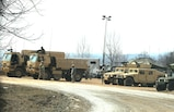 """Soldiers at Fort McCoy for the Operation Cold Steel exercise participate in exercise operations March 17, 2017, near Range 4 at Fort McCoy, Wis. Operation Cold Steel's purpose is to qualify select gun crews to support """"Objective-T"""" requirements for Army Early Response Forces, or AERF. Army Reserve forces, which are part of the overall AERF contingency forces, are part of the Army plan to provide a force that can deploy on short notice to respond to contingencies when needed. (U.S. Army Photo by Scott T. Sturkol, Public Affairs Office, Fort McCoy, Wis.)"""