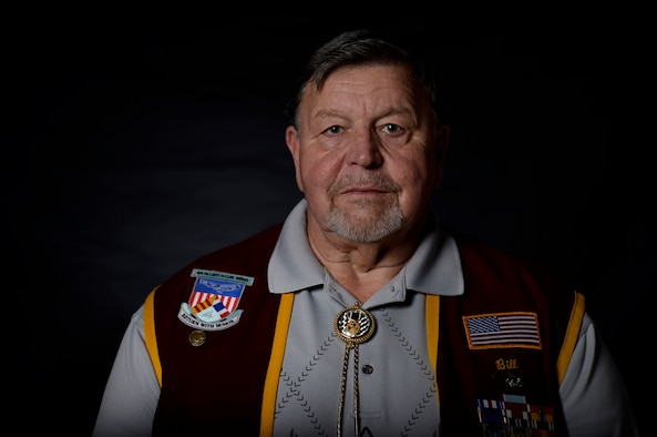Retired U.S. Air Force Capt. William Robinson, longest surviving enlisted prisoner of war, reflects on his Air Force career before an award ceremony here, March 17, 2017. Robinson was a POW for nearly eight years before being released. Now, Robinson speaks about his experience with community and military members across the country.