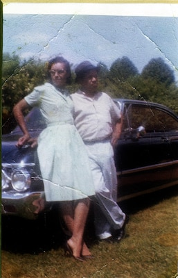 Baker and her late husband in the early 1960s.