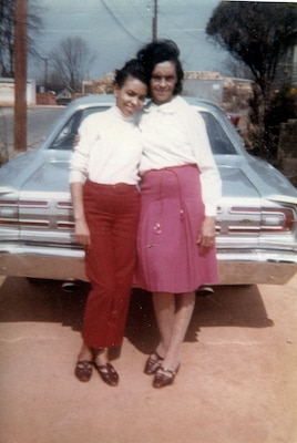 Baker with one of her daughters, early 1960s.
