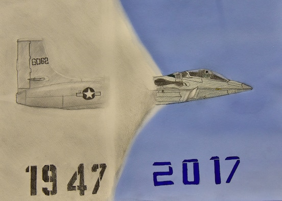 DAYTON, Ohio -- More than 100 pieces of art created by local students from schools across the Miami Valley will be on display at the National Museum of the U.S Air Force during the 34th Annual Student Aviation Art Competition and Exhibition. The exhibit will be open from April 1-30, 2017.(U.S. Air Force photo)