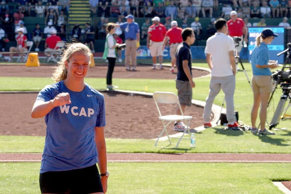 Capt. Paige Blackburn, an 8th Civil Engineer Squadron civil engineer at Kunsan Air Base, South Korea, was named the U.S. Air Force Female Athlete of the Year. Blackburn, a discus and javelin thrower, was a member of the Air Force's World Class Athlete Program from March 2015 to August 2016. (U.S. Air Force photo/Master Sgt. Marcus Darnell)