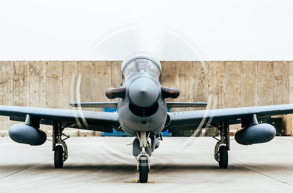 Four A-29 Super Tucanos arrive in Kabul, Afghanistan, March 20, 2017, before the beginning of the 2017 fighting season. The aircraft will bolster the Afghan air force's inventory from eight to 12 A-29s in country. Airmen from Train, Advise, Assist Command-Air, as part of Resolute Support Mission, work in tandem with their Afghan counterparts fostering a working relationship and fortifying confidence in the mission. (U.S. Air Force photo/Senior Airman Jordan Castelan)