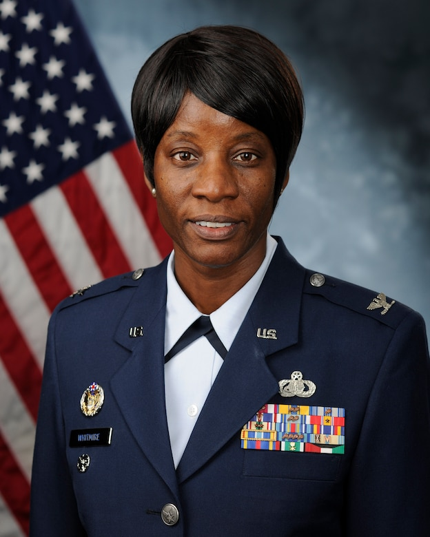 U.S. Air Force Col. Rita Whitmire, the 169th Maintenance Group Commander, assigned to the South Carolina Air National Guard's 169th Fighter Wing at McEntire Joint National Guard Base, S.C., March 24, 2017. (U.S. Air Force courtesy photo)