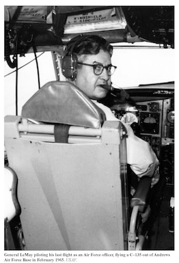 In a C-135 out of Andrews AFB, Feb, 1965