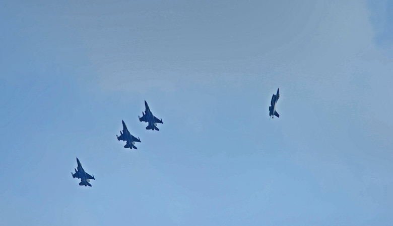 Republic of Singapore air force F-15s fly in formation during exercise Cope Tiger 17 at Korat Royal Thai Air Force Base, Thailand, March 24, 2017. The annual multilateral exercise, which involves a combined total of 76 aircraft and 43 air defense assets, is aimed at improving combined combat readiness and interoperability between the Republic of Singapore air force, Royal Thai air force, and U.S. Air Force, while concurrently enhancing the three nations' military relations. (U.S. Air Force photo by Staff Sgt. Kamaile Chan)
