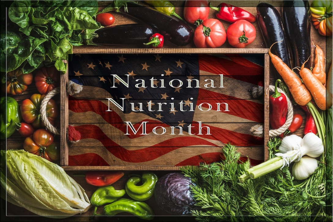 """March is National Nutrition Month and this year's theme is """"Put Your Best Fork Forward,"""" which encourages a return to the basics of healthy eating. (U.S. Air Force graphic by Lino Espinoza)"""