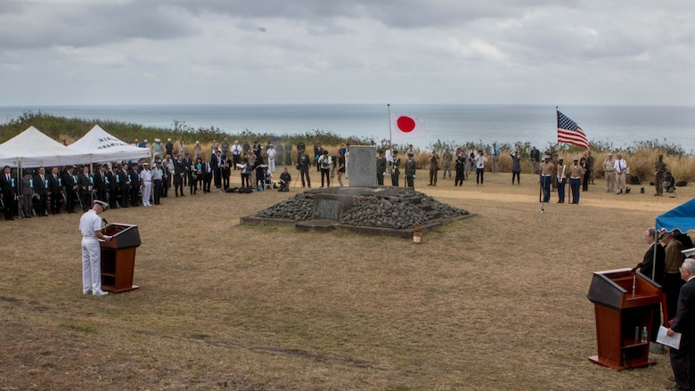 On March 25, 2017 the 72nd Reunion of Honor ceremony was held at the base of the Mount Suribachi with eight Iwo Jima veterans in attendance as well as American and Japanese, military and civilian honored guests. This event presented the opportunity for the U.S. and Japanese people to mutually remember and honor thousands of service members who fought and died on the hallowed grounds of Iwo Jima.