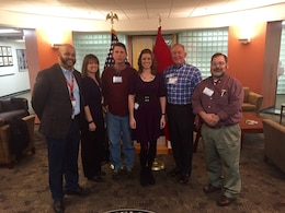 Members of the Tennessee Silver Jackets team pose together at the National Flood Risk Management Workshop held in St. Louis, Mo., Feb. 27 - March 3, 2017. The workshop unified the interagency flood risk management team across the United States. Participants shared flood risk management success stories from across the country while enhancing the interagency capability to deliver integrated and adaptive approaches. Representing Tennessee at the workshop from left to right are Richard Flood (U.S. Federal Emergency Management Agency Region IV), Kristen Martinenza (FEMA Region IV), Glenn Carrin (National Weather Service at Morristown, Tenn.), Lacey Thomason (U.S. Army Corps of Engineers Nashville District), Roger Lindsey (Metro Nashville Water Services) and Shawn Phillips (USACE Memphis District).