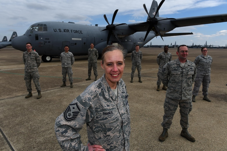 U.S. Air Force Master Sgt. Jill Tanner, 314th Aircraft Maintenance Squadron first sergeant, enlisted at 19 years old and has served 20 years in the U.S. Air Force. As a first sergeant, Tanner is the primary liaison between the commander and all matters concerning the enlisted corps of her unit. (U.S. Air Force photo by Airman 1st Class Kevin Sommer Giron)