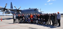 Air Force Junior Reserve Officer Training Corps (AFJROTC) Cadets pose in front of a C-130H Hercules after an orientation flight March 22, 2017. The cadets are with AFJROTC PA-931 at Cathedral Preparatory School, Erie, Pennsylvania. The purpose of the event was to show the cadets some opportunities in the Air Force Reserve. (U.S. Air Force photo/Maj. Polly Orcutt)