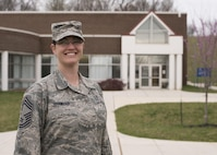 Chief Master Sgt. Paula C. Shawhan is assigned as chief of Professional Continuing Education at the Air National Guard's I.G. Brown Training and Education Center in Louisville, Tenn. (U.S. Air National Guard photo by Master Sgt. Mike R. Smith)