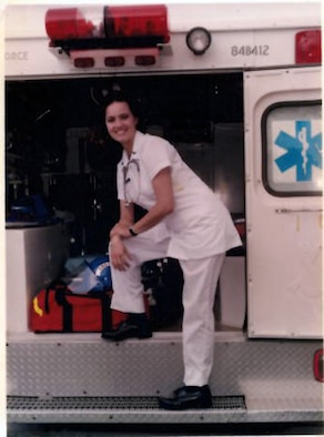 Chief Master Sgt. Paula C. Shawhan joined the Air Force Reserve in 1994, pictured here in 1995, during aerospace medical training at Sheppard Air Force Base, Texas. She is currently assigned as chief of Professional Continuing Education at the Air National Guard's I.G. Brown Training and Education Center in Louisville, Tenn. (Photo courtesy Chief Master Sgt. Paula C. Shawhan)