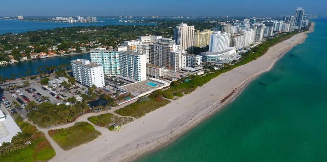 After: Fill operations in the 54th Street section of the Miami Beach hotspots renourishment project were complete on February 28, 2017.