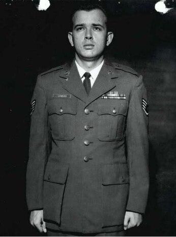 Staff Sgt. Linley B. Lemburg on active duty. (U.S. Air Force photo courtesy AFOSI Det. 340)