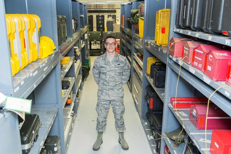 Airman 1st Class Joel Bernal, an F-16 crew chief with the 482nd Aircraft Maintenance Squadron has been selected as one of approximately 1,000 candidates in the nation to be offered a position in U.S. Air Force Academy's 2021 graduating class. (U.S. Air Force photo/Tech. Sgt. Leo Castellano)