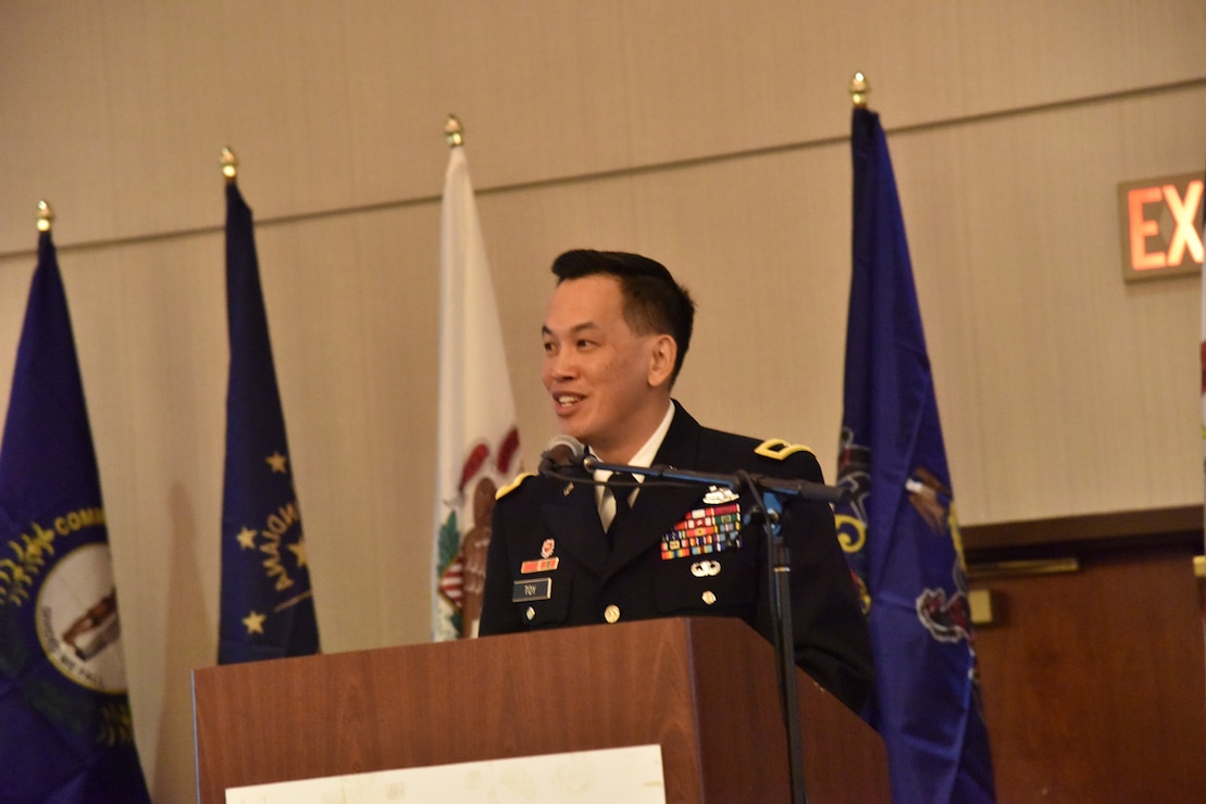 Brig. Gen. Toy speaking at the Inland Waterways Conference in Cincinnati, OH on March 7, 2017