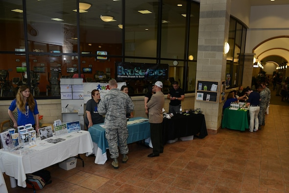 The Losano Fitness Center held the second annual 'FitFamilies Health Fait & Expo' on Laughlin Air Force Base, Texas, March 22, 2017. The expo was aimed at bringing people together and promoting different ways to stay healthy, featuring various on-base and off-base agencies. (U.S. Air Force photo/ Airman 1st Class Benjamin N. Valmoja)
