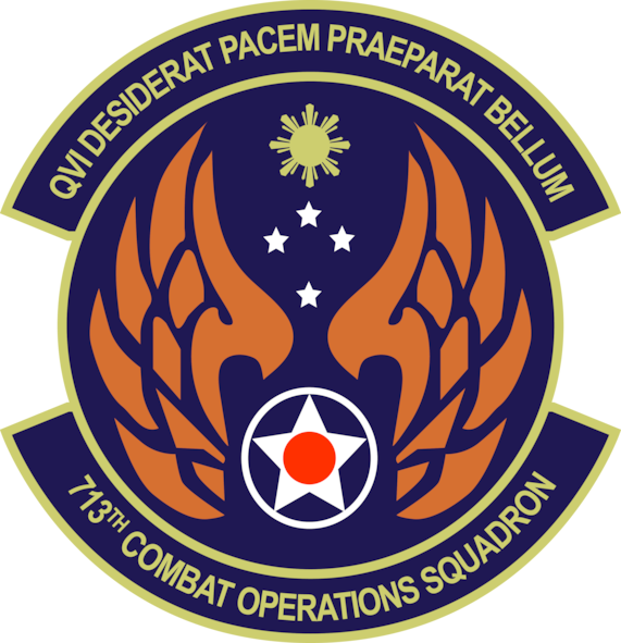 713th Combat Operations Squadron patch
