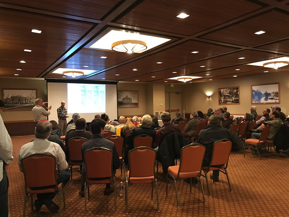 A public meeting was held on March 23, 2017 in Sheridan, Wyoming to seek input on the proposed plan for restoring degraded aquatic habitat in the vicinity of the existing flood control project that exists along Little Goose Creek, Big Goose Creek, and Goose Creek.