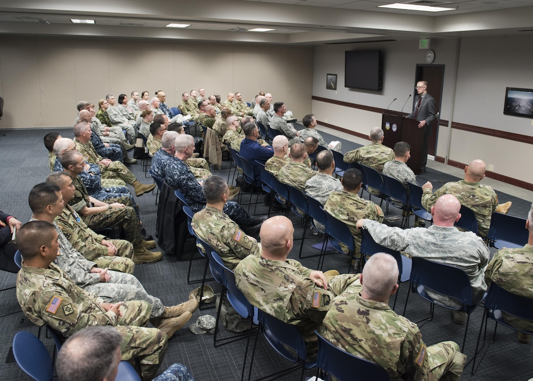 "The NORAD and USNORTHCOM Office of the Command Chaplain at held a religious affairs workshop titled  ""Embracing Complexity-Navigating Uncertainty"" March 23, 2017. The three-day event focused on strengthening 