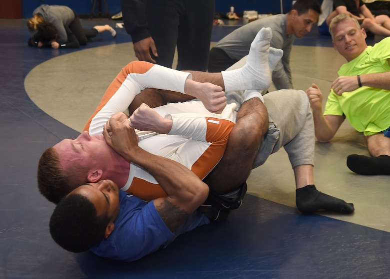 Combative class comes to Schriever > Schriever Air Force