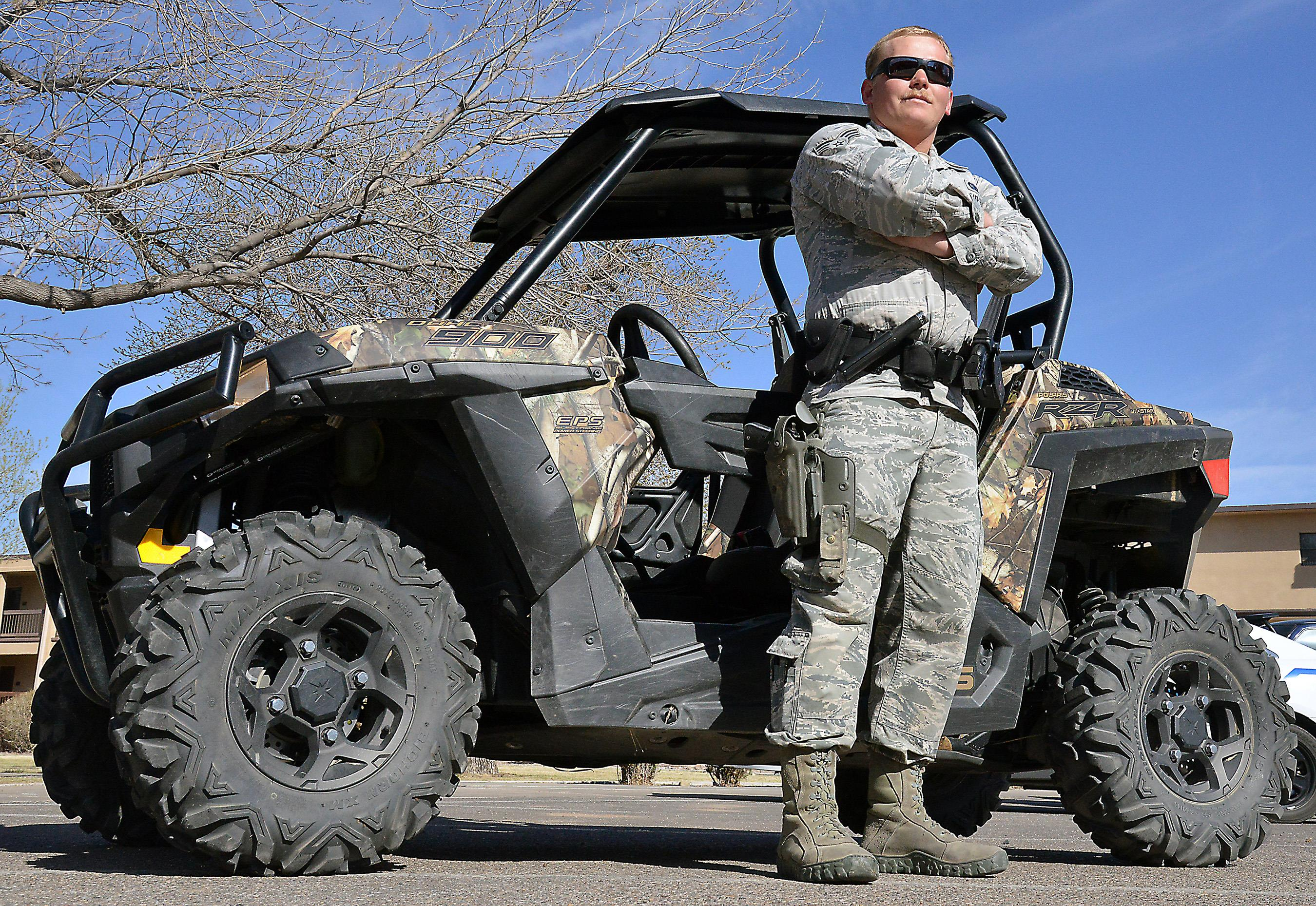 Unique vehicles aid Security Forces in patroling base > Kirtland Air ...