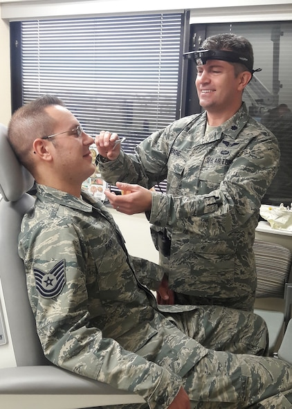 Lt. Col. (Dr.) Wesley Abadie, 99th Medical Group, otolaryngologist, Nellis Air Force Base, Nev.  Dr. Abadie has performed more than 700 operations at Mike O'Callaghan Military Medical Center. (Courtesy photo)