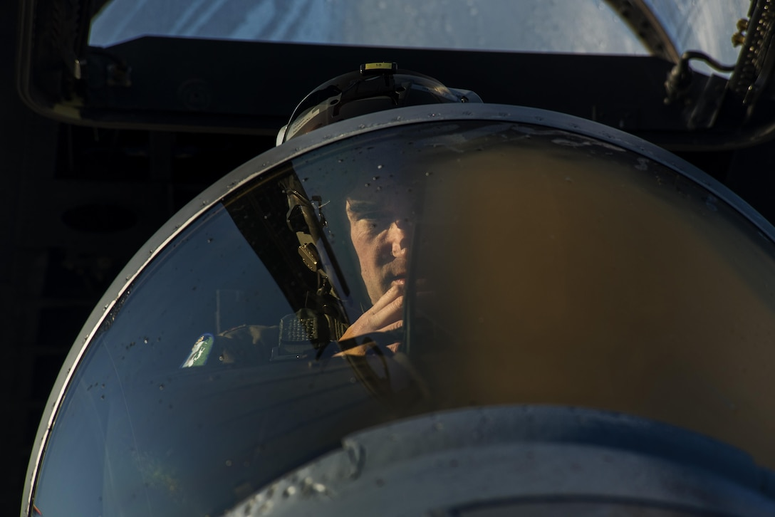 Maj. Joshua Higgins, 122nd Expeditionary Fighter Squadron pilot, prepares to start F-15C Eagle at Leeuwarden Air Base, Netherlands, March 28, 2017. The 122nd Expeditionary Fighter Squadron, comprised of Louisiana and Florida Air National Guard members, is in Europe as part of a Theater Security Package. While in country, the TSP is also participating in Frisian Flag, a Netherlands led exercise which is also one of Europe's largest aerial warfare exercises. For two weeks, fighter aircraft from different countries will carry out various training missions focused of on international cooperation, international leadership and precision. (U.S. Air Force photo by Staff Sgt. Jonathan Snyder)
