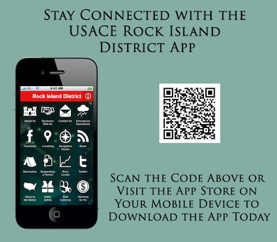 The USACE Rock Island app provides easy access to information such as river levels, recreation, business with us, emergency operations, social media connections, navigation charts, news, how to requesting a permit, web cameras, employment opportunities and more.