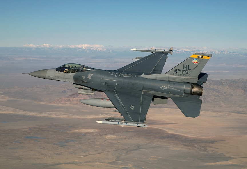 An F-16 Viper aircraft from the 4th Fighter Squadron in flight. (Courtesy photo)