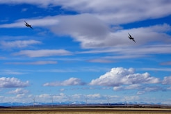 Two C-130 Hercules aircraft assigned to the 120th Airlift Wing of the Montana Air National Guard return with personnel from a deployment to Southwest Asia March 3, 2017.