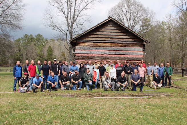 More than 40 Utah Army and Air National Guardsmen participated in this year's TAG Staff Ride to Chickamauga Battlefield in Tennessee, March 27-29, 2017. The goal of the initiative is to advance professional development through the study of leadership decisions that helped define important historic battles. (U.S. Army National Guard photo by Maj. Scott Chalmers)