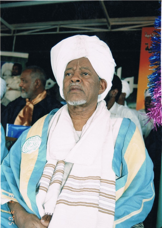 Ahmed at a function in Omdurman Islamic University 2005. (Besançon)