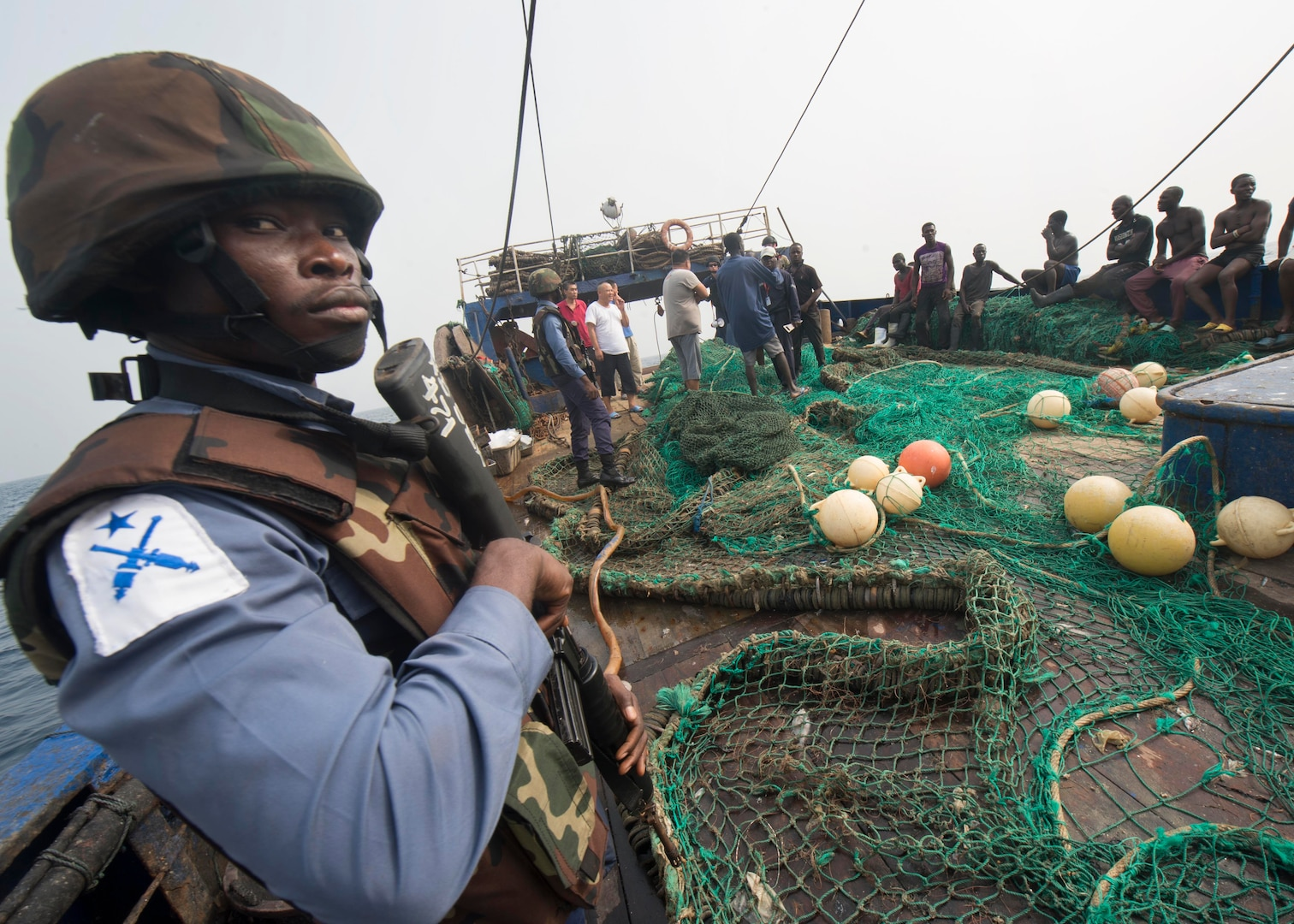 In February 2016, collaboration among four West African nations, with assistance from the U.S. and France, allowed African navies to track and interdict a hijacked vessel in the Gulf of Guinea.