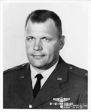 On April 7, 1966, Air Force Capt. Robert Barnett was the pilot of a B-57B Canberra on a strike mission over Laos when his aircraft was hit by hostile ground fire and crashed.  Barnett was declared killed in action. After his remains were recently recovered, the Texas native was laid to rest April 7, 2017, at the Texas State Cemetery in Austin, Texas. (U.S. Air Force courtesy photo)