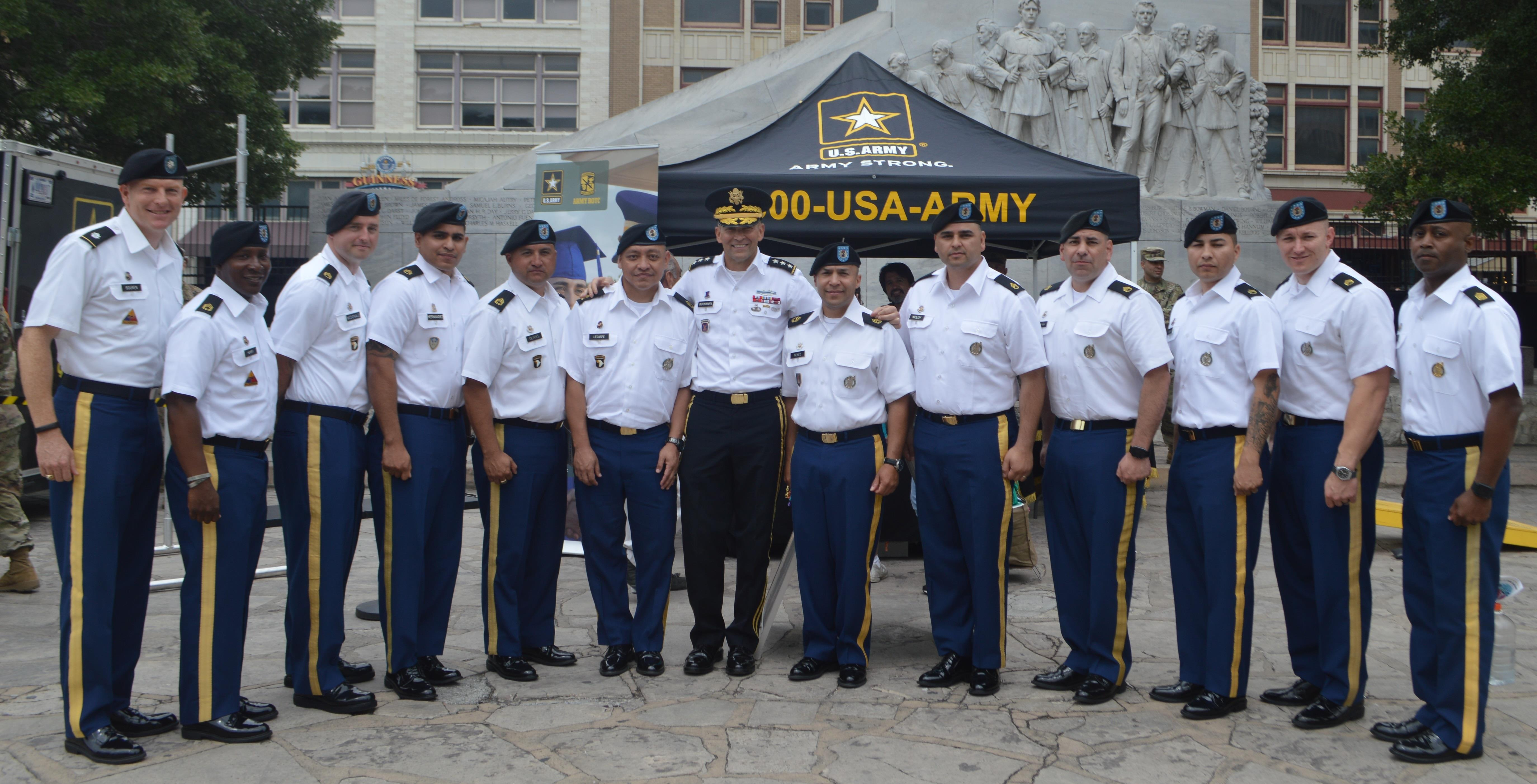 Top Army Recruiters Recognized During Fiesta San Antonio