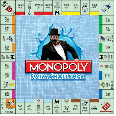 """May is fitness month, and Team Robins has an opportunity to participate by playing """"FITnopoly,"""" a game similar to the classic Monopoly, where patrons earn tickets for completing certain fitness challenges in hopes of earning big and small prizes. (U.S. Air Force graphic by Kenya James)"""