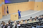 In the latest installment of the Masterminds series, NASA astronaut Dr. Serena Auñón-Chancellor spoke to employees April 17 at DIA HQ. Auñón-Chancellor described her experience in the astronaut selection and training program, her upcoming mission to the International Space Station and working with foreign counterparts.