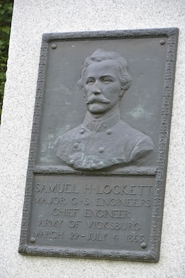Maj. Samuel Lockett, chief engineer of the Confederate army, conferred with Gen. William Tecumseh Sherman atop Vicksburg's fortifications at the outset of the siege, trading barbs over the pace at which the Union would take the city.