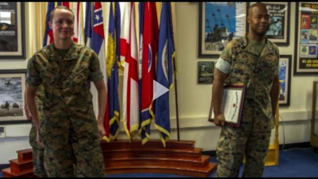 Master Sergeant Kevin Watkins was promoted to his current rank May 1, 2017 at the 6th Marine Corps District (6MCD) headquarters on Marine Corps Recruit Depot Parris island, South Carolina. During his promotion ceremony, Watkins gave a stirring take on what it means to be a leader in the Marine Corps. Watkins serves as the adjutant chief with 6MCD.