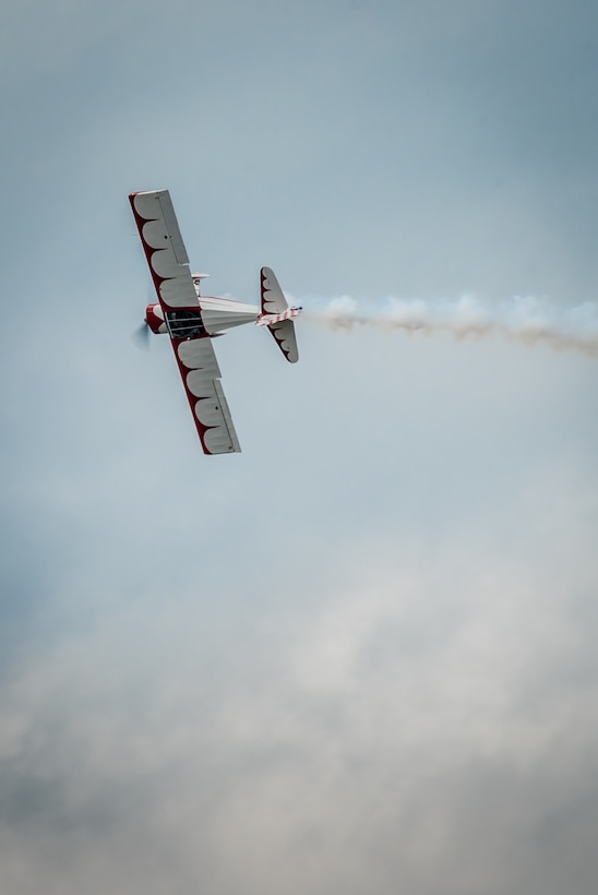 Nick Coleman, a pilot in the Kentucky Air National Guard's 123rd Airlift Wing, flies an aerial demonstration in his personal T-Craft airplane April 22, 2017, during the Thunder Over Louisville air show in Louisville, Ky. The annual event has grown to become the largest single-day air show in the nation. (U.S. Air National Guard photo by Lt. Col. Dale Greer)