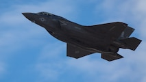 A U.S. Marine Corps F-35B Lightning II flies through the skies above Joint Base Elmendorf-Richardson, Alaska, May 3, 2017. Northern Edge is Alaska's largest and premier joint training exercise designed to practice operations, techniques and procedures, as well as enhance interoperability among the services. The exercise provides real-world proficiency in detection and tracking of units at sea, in the air and on land and response to multiple crises in the Indo-Asia-Pacific region. The F-35B is based out of Marine Corps Air Station Iwakuni, Japan with Marine Fighter Attack Squadron 121, Marine Aircraft Group 12, 1st Marine Aircraft Wing, III Marine Expeditionary Force.