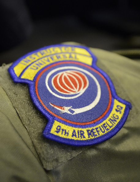 The patch of the 9th Air Refueling Squadron, May 4, 2017. The 9th, based out of Travis Air Force Base, Calif., deployed two KC-10 Extenders in support of Northern Edge 2017. NE17 is Alaska's premier joint training exercise designed to practice operations, techniques and procedures, as well as enhance interoperability among the services.