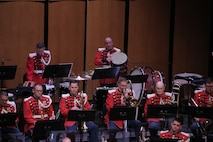 """On May 7, 2017 the Marine Band performed a concert called """"Arioso"""" which highlighted music inspired by the connection between the human voice and instruments. Featured selections included Joseph Schwantner's and the mountains rising nowhere and James Stephenson's Symphony No. 2, Voices. (U.S. Marine Corps photo by Master Sgt. Kristin duBois/released)"""