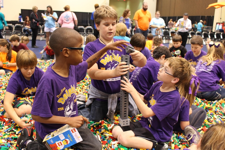 Students of Port St. Joe Middle School, in Port St. Joe, Florida were sponsored by the Air Force Civil Engineer Center at Tyndall Air Force Base, to participate in a FIRST LEGO League program in Biloxi, Mississippi. The funds were provided by the Department of Defense and delivered through an educational partnership agreement with Gulf County School District. Photo courtesy of Gulf County School District.