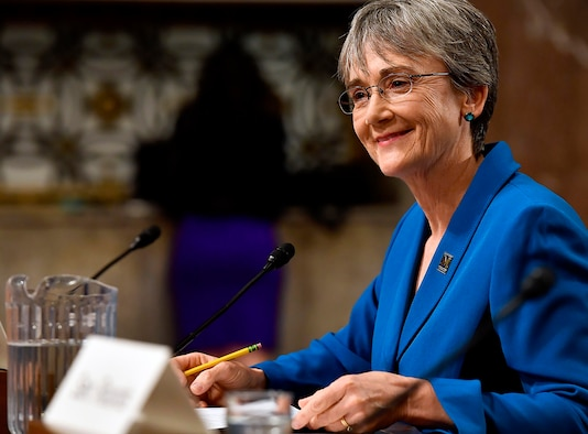 Heather Wilson was confirmed as the new Secretary of the Air Force by the Senate May 8, 2017. (U.S. Air Force photo/Scott M. Ash)