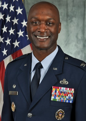 Col. Kenyon Bell, 72nd Air Base Wing commander. Assumed command of the wing on May 1, 2017.