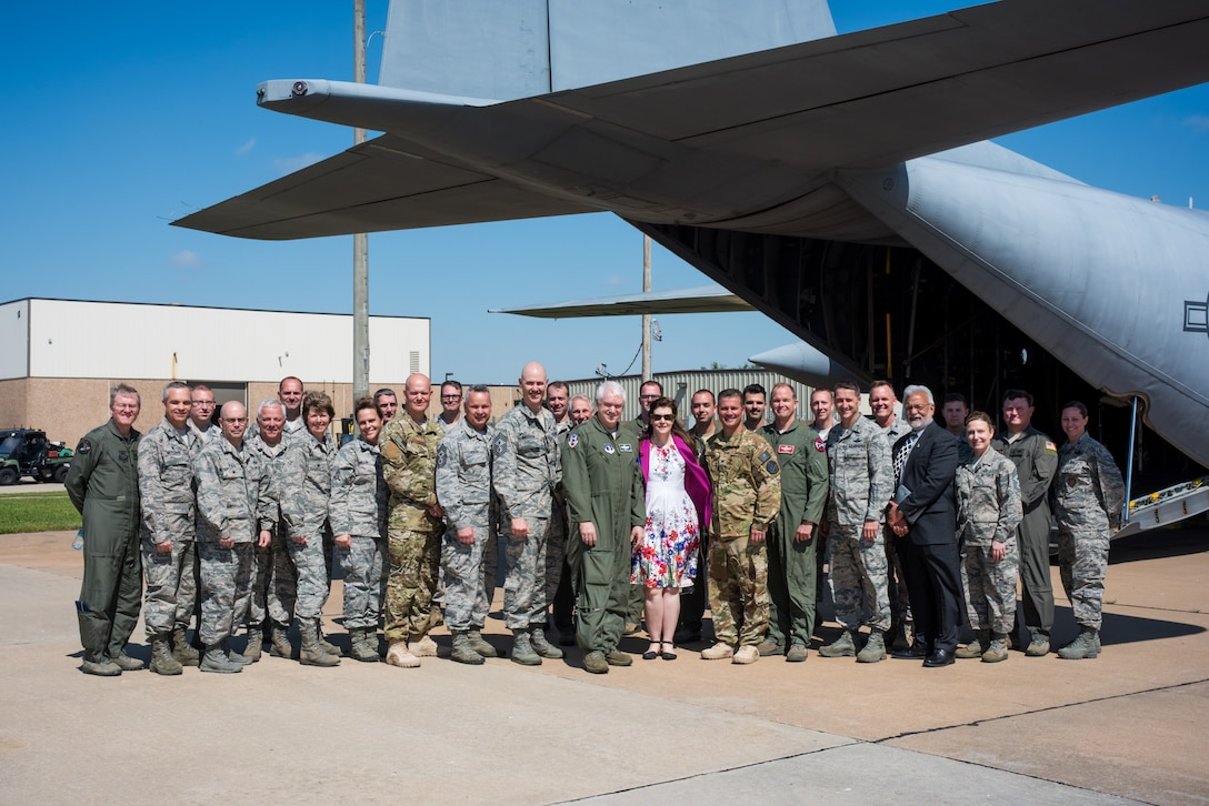 The 137th Special Operatios Wing hosted Lt. Gen. L. Scott Rice, director of the Air National Guard, Chief Master Sgt. Ronald C. Anderson, command chief master sergeant of the Air National Guard, and several other distinguished visitors for a tour of the 137 SOW at Will Rogers Air National Guard Base in Oklahoma City, May 7, 2017. The tour allowed the visitors to not only get a look into the special operations mission of the 137 SOW but also find ways to better serve the Airmen of the Air National Guard. (U.S. Air Force photo by Staff Sgt. Kasey Phipps)
