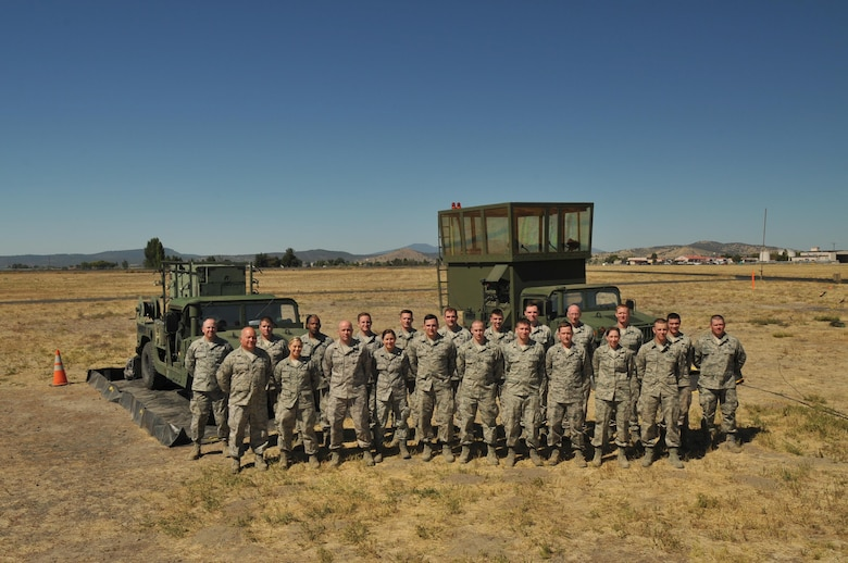 Pennsylvania Air National Guardsmen with the 258th Air Traffic Control Squadron traveled to Oregon to train with the 270th Air Traffic Control Squadron in Klamath Falls from Sept. 11, 2016 to Sept 19, 2016. The training simulates a deployment and gives the Airmen the experience of traveling to an unfamiliar location to set up and operate the Mobile Air Traffic Control Tower (MSN-7) on unfamiliar terrain.  Air Field System Maintainers, Air Traffic Control Specialist, and Power Production Specialist from the 258th train on setting up, operating, and testing, the MSN-7. The 258th Air Traffic Control Squadron is located in Johnstown Pennsylvania and is a squadron of the 171st Air Refueling Wing located in Pittsburgh. (U.S. Air National Guard Photo by Staff Sgt. Allyson Manners)